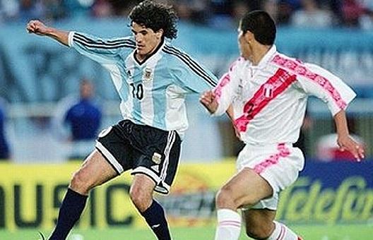 Burrito Ortega en la selección Argentina