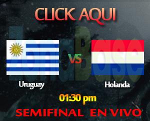 uruguay vs holanda en vivo