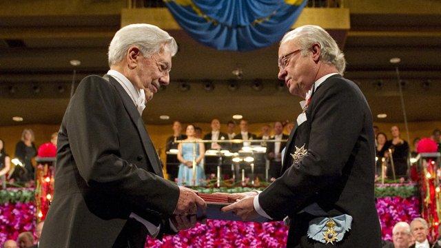 Marioi Vargas Llosa recibió el Premio Nobel