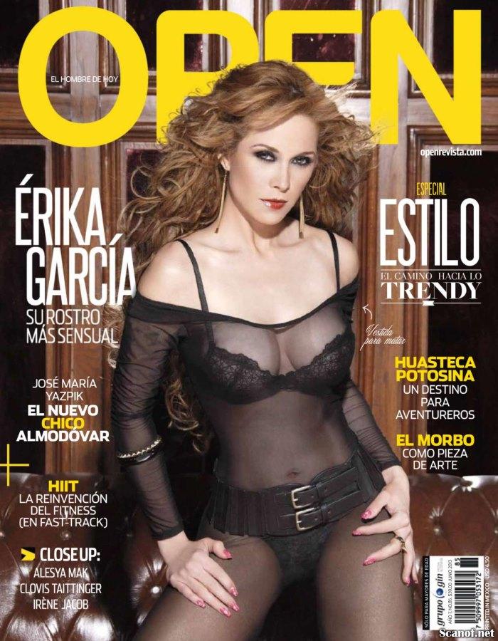 la actriz posó de lo más sensual para la revistaa Open Junio 2013